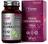 Trans-resveratrolo 100 mg dall'estratto di Polygonum Cuspidatum | 90 capsule vegane | Integratore alimentare antiossidante per la pelle - Vegano, senza OGM e glutine