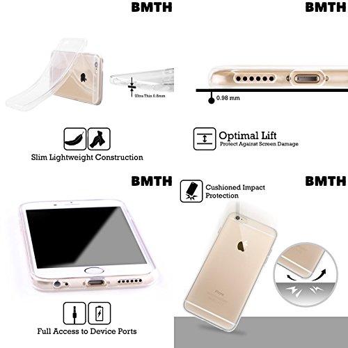 Offizielle Bring Me The Horizon Geist Kunst Soft Gel Hülle für Apple iPhone 6 / 6s Mond Natürlich