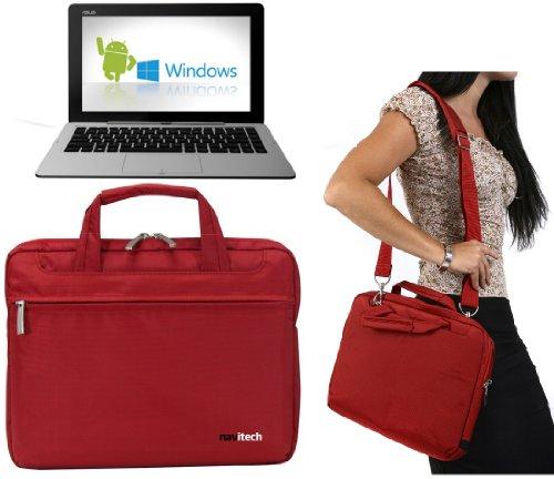 Navitech Rotes Ultrabook / Laptop / Notebook Case Cover Tasche für das Asus Transformer Book Duet TD300 / Asus transformer Book 2 Trio TX201 / Asus X102