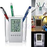 Nkysm Calendrier perpétuel Transparent pour stylos bille conteneurs Organiseur de bureau école bureau papeterie Fournitures Cadeau