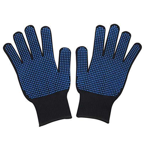 LauLily Interressions-Handschuhe, hitzebeständig, 300 Grad, PVC, Kleber und Spitze, Silikon, isoliert, Anti-Verbrühung, rutschfest