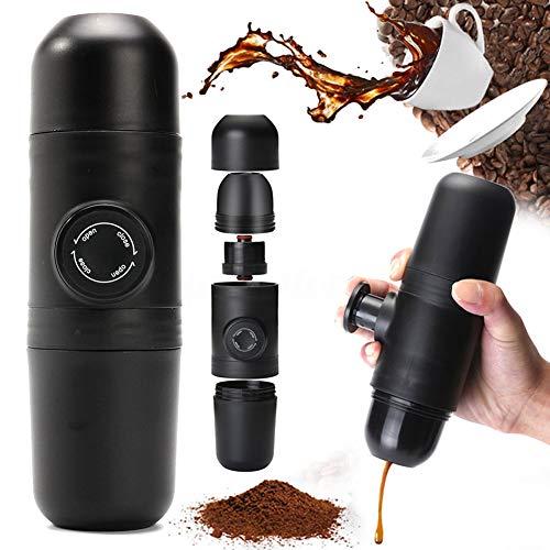 DKEyinx Handbetriebene Espressomaschine, Manuelle Kaffeemühlen, 140ml Tragbare Outdoor-Reise im...