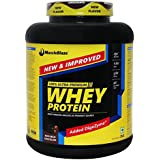 MuscleBlaze 100% Whey Protein Supplement Powder with Digestive Enzyme - 4.4 lb/ 2 kg, 60 Servings (Rich Milk Chocolate)