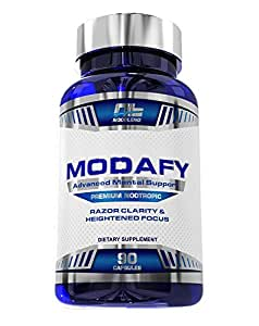 Modafy - NEW Premium Nootropic Brain Stack For Clarity, Energy, Concentration & Focus   BEST Formula and Largest Doses of Nootropics powered by Alpha GPC, L-Theanine, Phosphatidylserine, Guarana, Lion's Mane & COQ10   90 Capsules