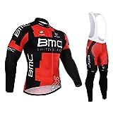 Strgao 2016 Herren Radtrikots mit Tr?gerhose Pro Rennen Team BMC Radfahren Langarm Radhose MTB Radbekleidung Radfahren Anzug cycling jersey pants set suit