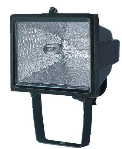 Electraline 63002 - Proyector halógeno con soporte de montaje para exterior (IP54, 400 W) color negro