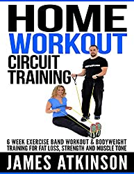 HOME WORKOUT CIRCUIT TRAINING: 6 week exercise band workout & bodyweight training for fat loss, strength and muscle tone (English Edition)
