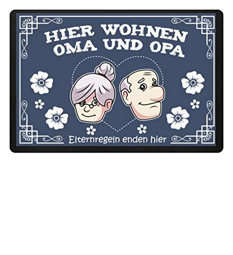 SwayShirt Hier wohnen Oma und Opa, Eltern Regeln -