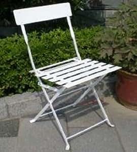 Chalet et Jardin 35-900301 Citadyne 2 Chaises de Jardin Métal Blanc