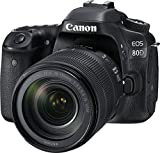 Canon EOS 80D 24.2MP Digital SLR Camera (Black) + EF-S 18-135mm f/3.5-5.6 Image Stabilization USM Lens Kit + 8GB Memory Card