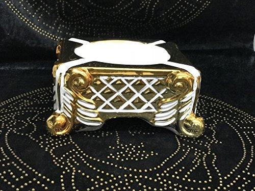 Medusa Barock Styl Aschenbecher Dekoration Schale Vase sehr Edel Luxus Aschen Becher GOLD ( SO LANGE DER VORRAT REICHT ) (GOLD-WEIß)