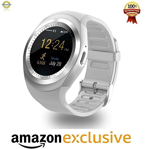Mobile Link Micromax Joy X1800 Compatible Bluetooth Smartwatch With Sim, Tf Card Support Runs Apps Like Facebook And Whatsapp Touch Screen Multilanguage Android/Ios Mobile Phone Wrist Watch Phone With Activity Trackers Anti Lost feature and Fitness Band Lowest Price Color May Vary  available at amazon for Rs.2299