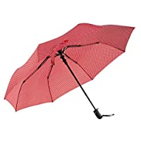 Polka dot Umbrellas for Women with Windproof Fibreglass Ribs - Red/White