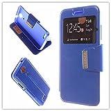 MISEMIYA Hüllen Taschen Schalen Skins Cover für Zopo Speed 7 (ZP951) - Hüllen + gehärteter Schutz, Cover View Unterstützung, Blau