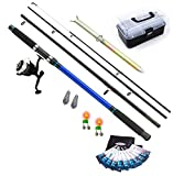FLADEN Fishing Complete Beach Casting Set - XTC 12ft 4 Piece Rod
