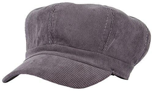 36f720a91eb Lukis Women Corduroy 8 Panel Newsboy Baker Boy Cap Peaked Beret Hat Grey