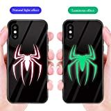 Marvel Avengers Coque en Verre trempé pour iPhone X XR XS Max 8 7 6 6S Plus Venom Spider Man Super Heroes Cool Back Cover iPhone 7 8