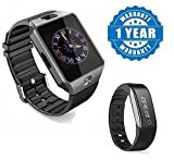 Samsung Galaxy S8 Compatible Certified DZ09 Bluetooth Phone Smart Watch Phone With Smart Activity tracker with Heart rate monitor (1 Year Warranty)