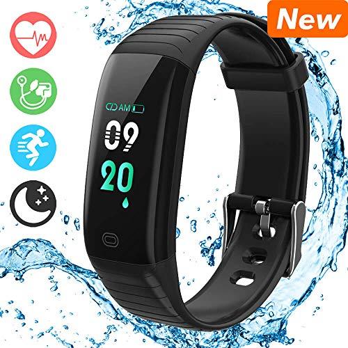 Fitness Trackers mit Pulsmesser und Blutdruck, Morden Fitness Armband Verfolgen Sie Ihre Schritte, Kalorienverbrauch, Schlafen Automatisch