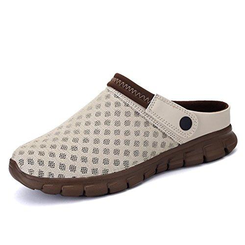 Sommer Gradient Sandale, Unisex Herren Damen Clog Breathable Mesh Sommer Sandalen Strand Aqua, Walking, Anti-Rutsch Sommer Hausschuhe Braun