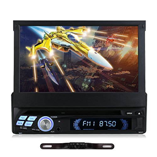 7' 1 DIN Android 5.1 Autoradio DVD Player RNS NAVISKAUTO Navi Navigation GPS CD Radio Quad Core Touchscreen Rückfahrkamera RQ0110E+Y0812