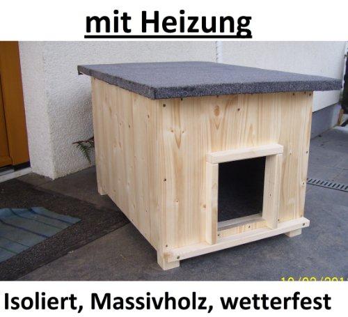 Katzenhaus kurz mit Heizung Katzenhütte Wurfkiste Hundehütte wetterfest isoliert -
