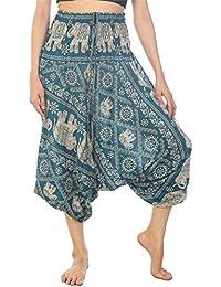 Lofbaz Mujeres Pantalones de la chic Aladdin Pantolin Arabes ropa Boho
