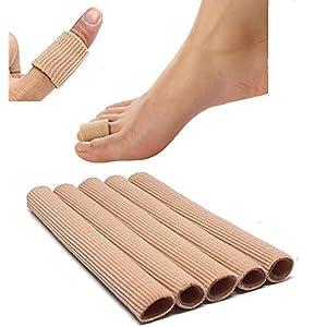5 Stück 75cm gesamt 1.5 * 15cm Soft Exklusiv Silikon Zehenschutz Schlauchbandage Druckschutz Zehen Schutz