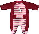 Schnizler Baby - Mädchen Schlafstrampler Nicki Schlafanzug Elefant, Gr. 68, Rot (original 900)