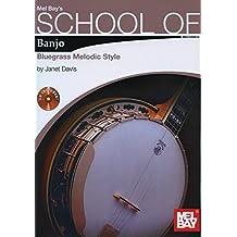 Davis Janet School Of Banjo Bluegrass Melodic Style Banjo Book/CD
