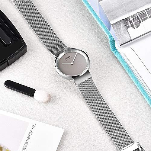 WDXDP Uhr Bewegung Mode Lässig Dame Quarzuhr Einzigartige Stilvolle Blaue Stahl Weibliche Uhr Kleid Frauen ArmbanduhrG76011Lgw (Stahl Blau Kleid)