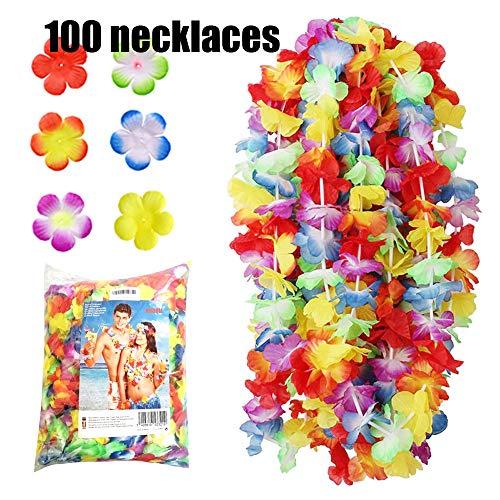 NNDOLL-100 x Hawainae Hula Leis Blumen, Farbe Misto, Hawaii-100 (Leis Blumen In)