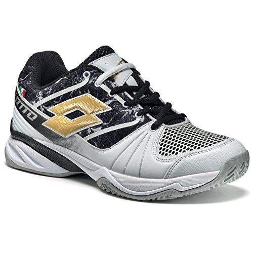 Lotto Esosphere Cly W, Chaussures de Tennis Femme Noir / jaune (noir / étoile dorée (gold star))