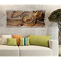 Fototapete Holz Holzoptik Welt Kontinente Kompass liwwing no 2699