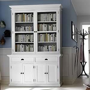 cag zeitlos eleganter buffetschrank vitrinenschrank josephine antik weiss 145 x 220cm aus. Black Bedroom Furniture Sets. Home Design Ideas