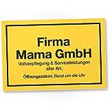 DankeDir! Firma Mama GmbH Kunststoff Schild - Geschenkidee Geburtstagsgeschenk Mama, Wanddeko Wohnzimmer/Schlafzimmer, süßes Geschenk Mutter - Kleine Aufmerksamkeit, Deko Das Haus