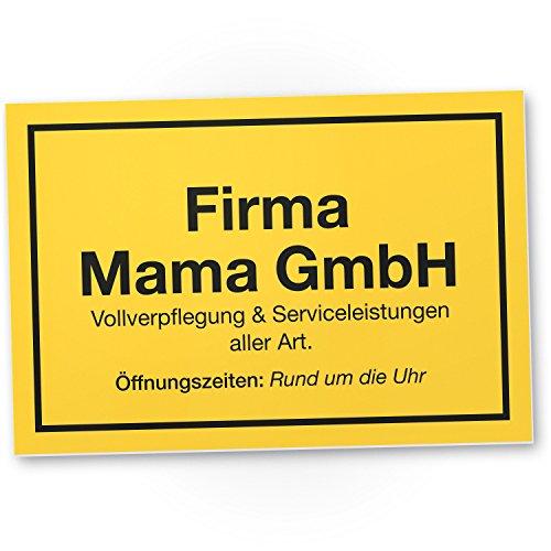 DankeDir! Firma Mama GmbH Kunststoff Schild – Geschenkidee Geburtstagsgeschenk Mama, Wanddeko Wohnzimmer/Schlafzimmer, süßes Geschenk Mutter – Kleine Aufmerksamkeit, Deko Das Haus