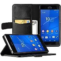 EasyAcc Sony Xperia Z3 Hüllen Tasche Wallet Case Handytasche Handycover Flip Cover Ledertasche Lederhülle Schutzhülle Hülle mit Standfunktion für Sony Xperia Z3