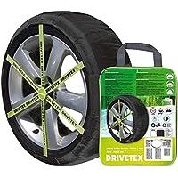 DRIVETEX79 - Kit 2 fundas-cadenas textiles turismos DRIVETEX hielo/nieve talla 79 y 2 guantes para el montaje