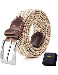 a8bff5ea6 Elastic Braided Belt, Fairwin Unisex Men Women Braided Elastic Stretch Woven  Belt for Jeans,