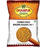 Dhampur Green Combo Pack Brown Sugar 3 in 1, 750g Free Gur Chana