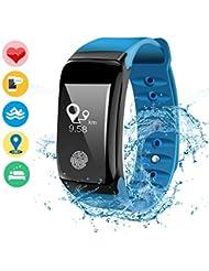 DAMIGRAM Fitness Tracker Wasserdichte Aktivitätstracker Bluetooth Fitness Armbänder mit Pulsmesser Schrittzähler Schlaf Monitor für Kinder Frauen Männer Android und ios