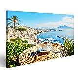 Bild Bilder auf Leinwand Tasse frischer Espressokaffee in