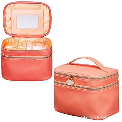 GBT Mode mit großer Kapazität Double-Layer-Kosmetiktasche Orange