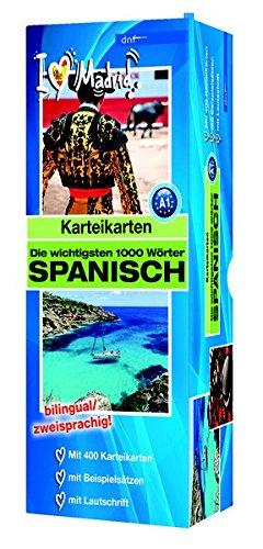 Karteikarten - Die wichtigsten 1000 Wörter, Spanisch: Niveau A1 bilingual / zweisprachig