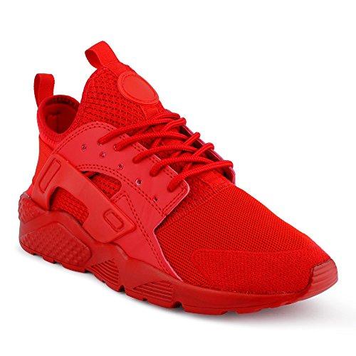 FiveSix Herren Sneaker Sportschuhe Laufschuhe Freizeitschuhe Textilschuhe Camouflage Schnürschuhe Low-Top Schuhe Rot EU 41 (Star Freizeitschuhe Lo All)