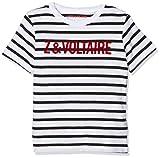 ZADIG&VOLTAIRE Boy's Manches Courtes T-Shirt, White (Blanc Noir N50), 12 Years (Manufacturer Size: 12A)