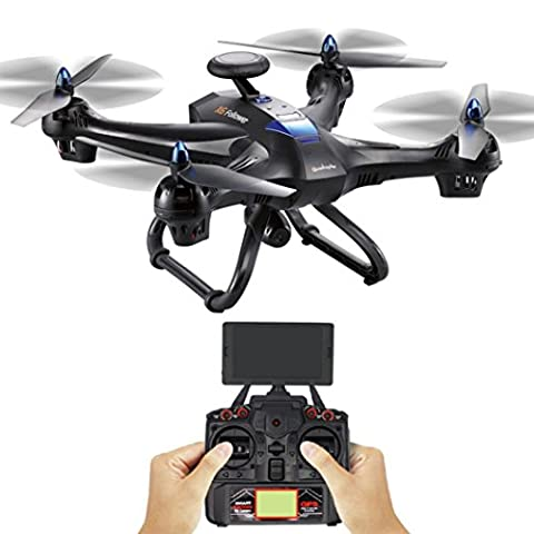 Ularma Global Drone X183 avec 5 GHz WiFi FPV 1080p Camera GPS Brushless Quadcopter (noir)