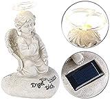Lunartec Engel: Schutzengel-Figur mit Solar-LED-Licht, 7 LEDs, 20 cm, IP44 (Solar-Engel für Grab)