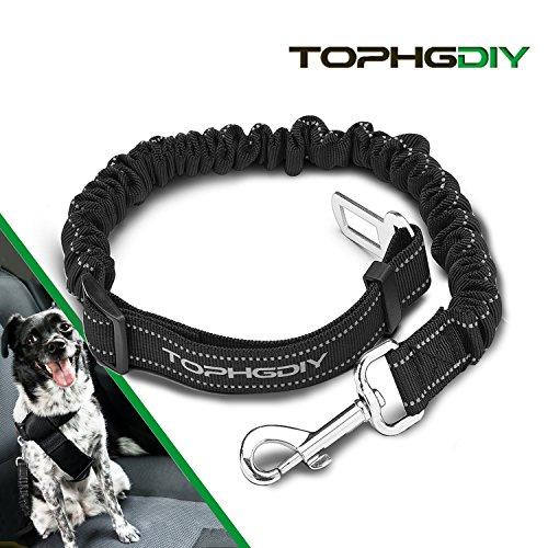 TOPHGDIY Premium Hunde Sicherheitsgurt Katzen Auto Sicherheitsgeschirre Hunde , einstellbar Hundegurt mit elastische Ruckdämpfung für alle Hunderassen